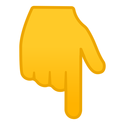 finger pointing down emoji by google