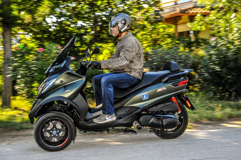 test piaggio mp3 350 sport kinisi 5
