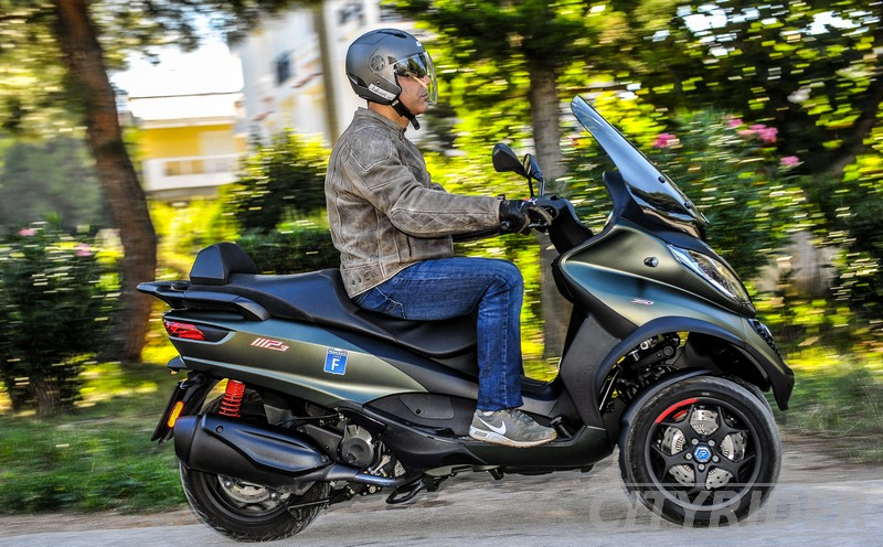 test piaggio mp3 350 sport kinisi 7