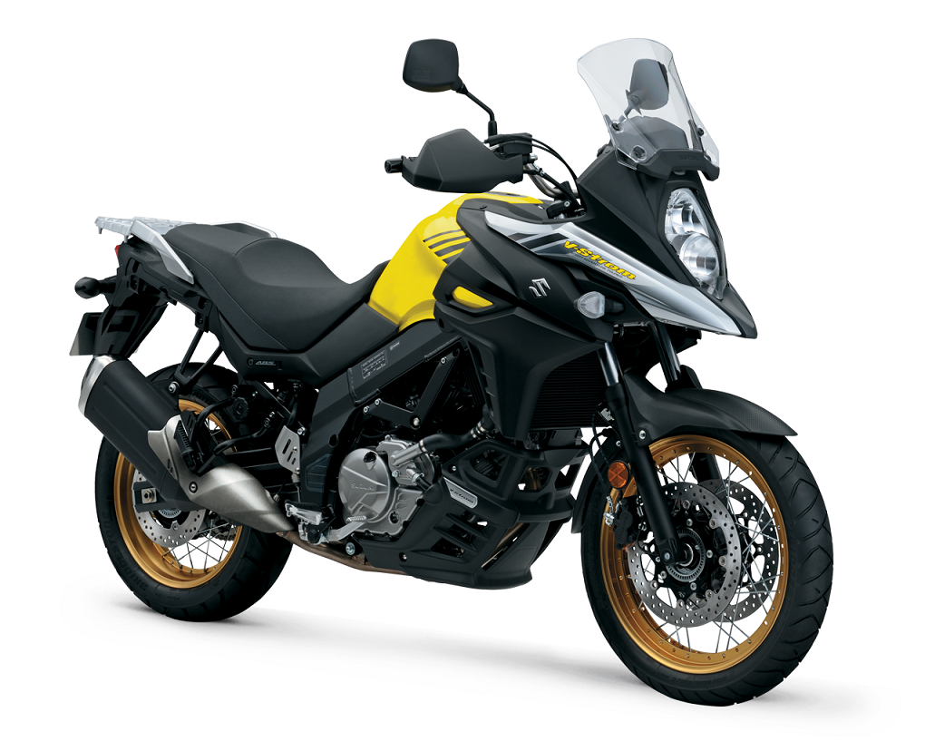 Suzuki V Strom 650 XT press front right quarter kkkkkk